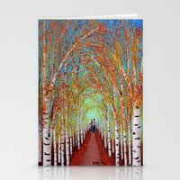 Autumn Birch  Stationery Cards