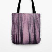 Woods Red Tote Bag