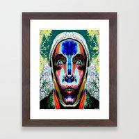 OMEGA MAN Framed Art Print