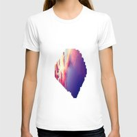 Cloudscape VII Womens Fitted Tee White SMALL