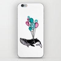 Balloons Whale II iPhone & iPod Skin