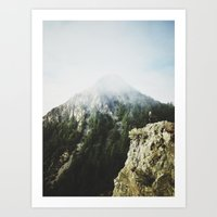She saw the mountain mist Art Print