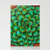 Succulent Mandala Stationery Cards