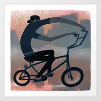 bike Art Prints featuring bike by robotrake