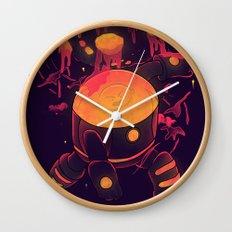 Super Heroic Pose Wall Clock