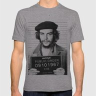 Public Order Che Guevara Mens Fitted Tee Athletic Grey SMALL