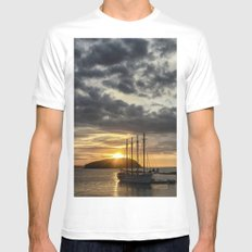 Sunrise Bar Harbor Maine Mens Fitted Tee SMALL White