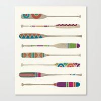 Funky Paddles Canvas Print