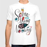 Something Out of Nothing  Mens Fitted Tee White SMALL