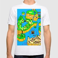 Mario World '84 Mens Fitted Tee Ash Grey SMALL