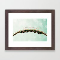 Roller Coaster Framed Art Print