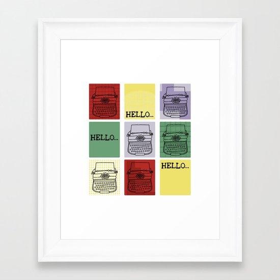 Classic Typewriter Framed Art Print