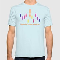 Create Mens Fitted Tee Light Blue SMALL