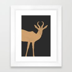 All lines lead to the...Inverted Springbok Framed Art Print