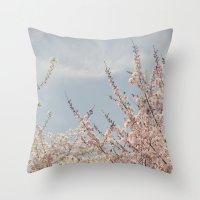 Sweet & Blue Throw Pillow