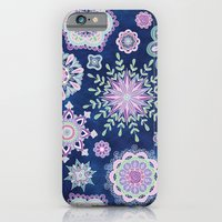iPhone & iPod Case featuring Folky SnowFlowers by Groovity