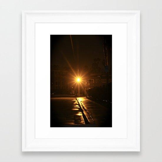 Light at Night Framed Art Print
