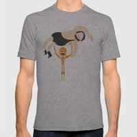 Its Still Real To Me. Mens Fitted Tee Athletic Grey SMALL