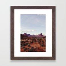 Monument Valley View Framed Art Print