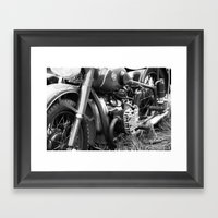 motorcycle Framed Art Print