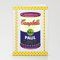 Horizontal Beatle Soup Cans Stationery Cards