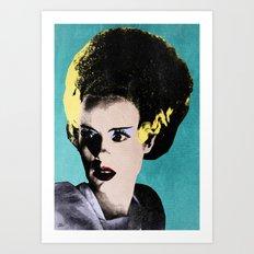 The Beautiful Bride of Frankenstein Art Print