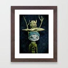 a portrait Framed Art Print
