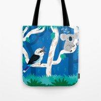 The Koala and the Kookaburra (version 2) Tote Bag