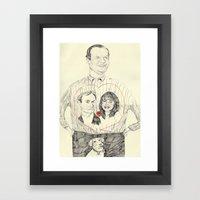 Frasier Wearing A Tshirt… Framed Art Print