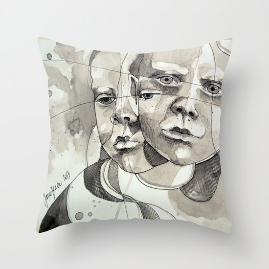 Made of two Throw Pillow
