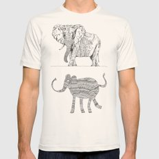 two ways to see one elephant Mens Fitted Tee Natural SMALL