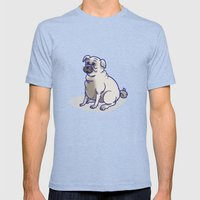 Pugs in a Rug Mens Fitted Tee Tri-Blue SMALL