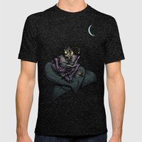 Night Bug Mens Fitted Tee Tri-Black SMALL