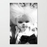 Dolls in Grandma's attic, Photo Canvas Print