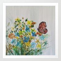 Mahogany Butterfly Art Print