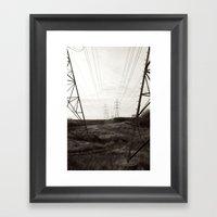 Human Life Line Framed Art Print