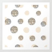 POIS CHIC WHITE Art Print