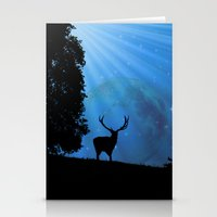 Moon & Deer - JUSTART © Stationery Cards
