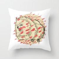 Pomeranian In Autumn Throw Pillow