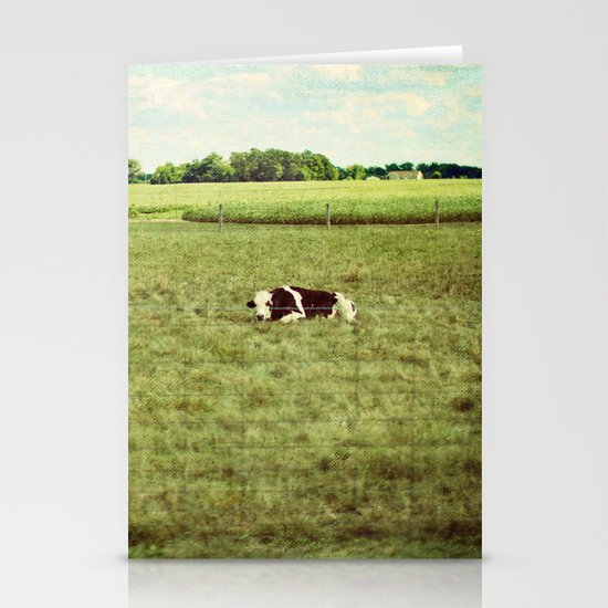 resting cow Stationery Card