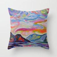 Lake Okanagan From Peach… Throw Pillow