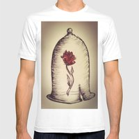 The Rose And The Bell Mens Fitted Tee White SMALL