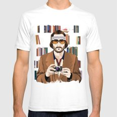 Richie Tenenbaum Mens Fitted Tee SMALL White