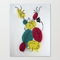 Ciervo Deer Canvas Print