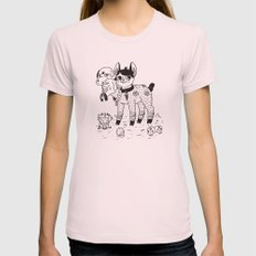 Beelzebub's Best Friends Womens Fitted Tee Light Pink SMALL