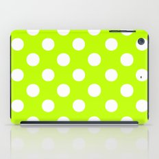 Polka Dots (White/Lime) iPad Case
