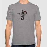 Sad John Rambo In A Field Mens Fitted Tee Athletic Grey SMALL