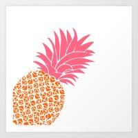 Bright Pineapple Art Print