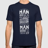 THE MAN WHO SAYS IT CANN… Mens Fitted Tee Navy SMALL