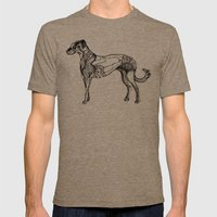 Dog Mens Fitted Tee Tri-Coffee SMALL